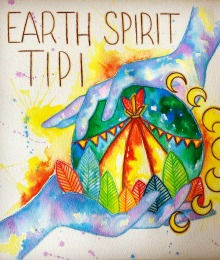 Earth Spirit Tipi Logo